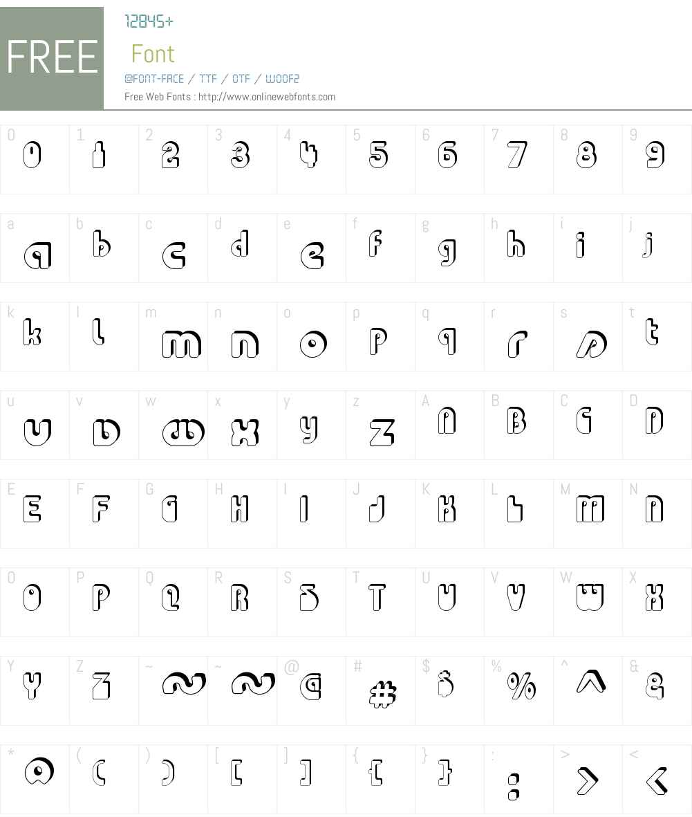 Choda Chado Font Screenshots