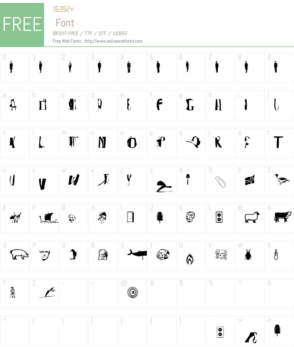 BurieDog Font Screenshots