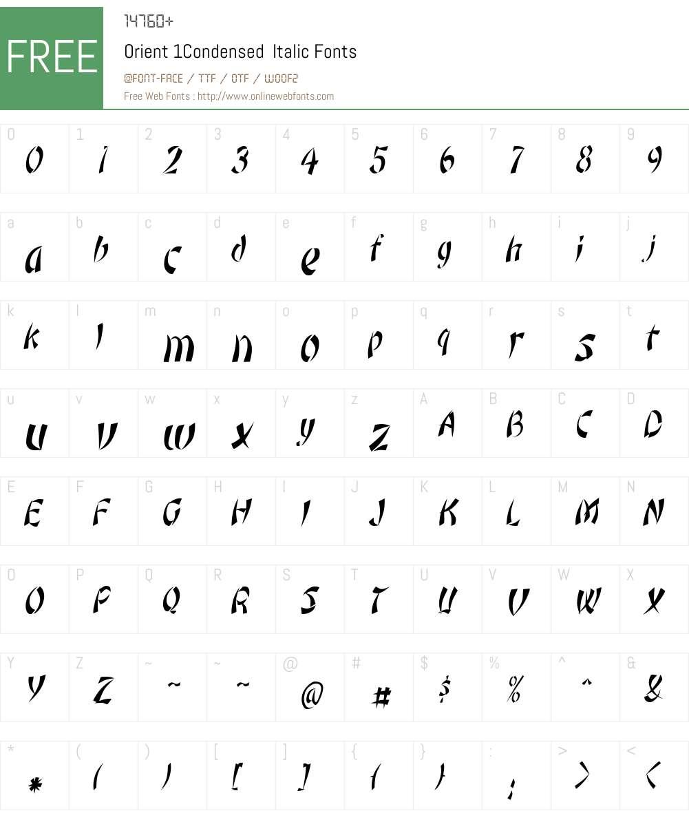 Orient 1Condensed Font Screenshots