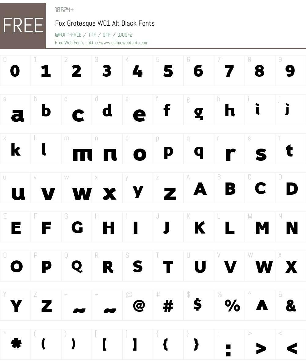FoxGrotesqueW01-AltBlack Font Screenshots