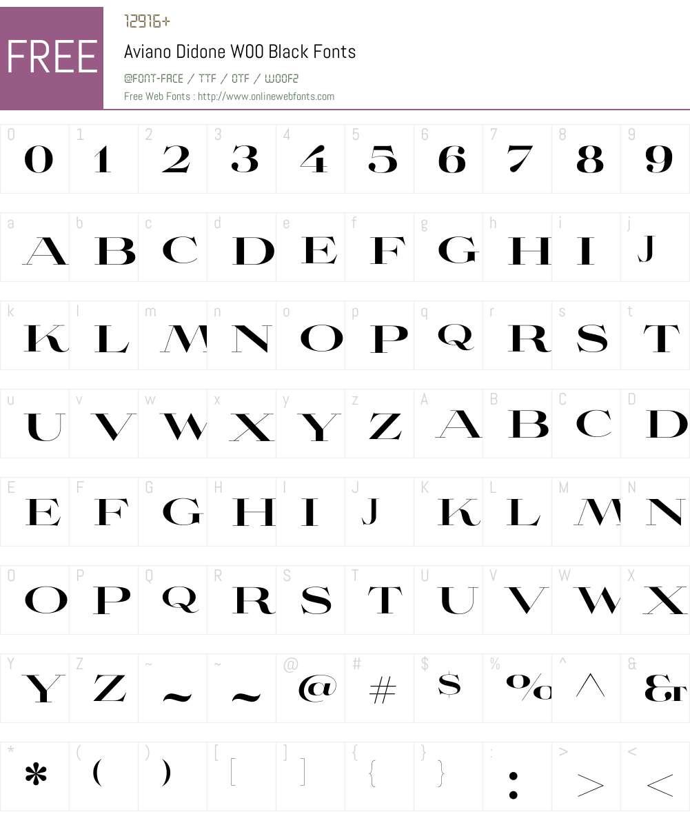 Aviano Didone Black Font Screenshots