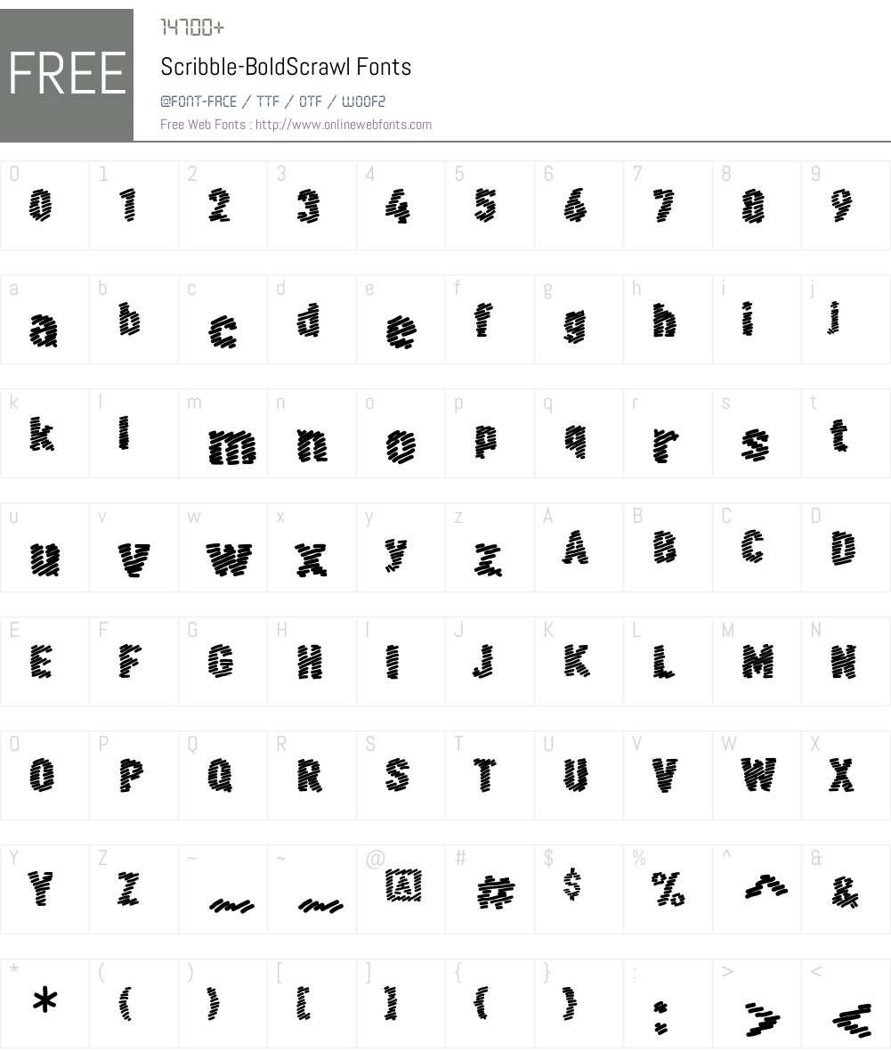 Scribble Font Screenshots