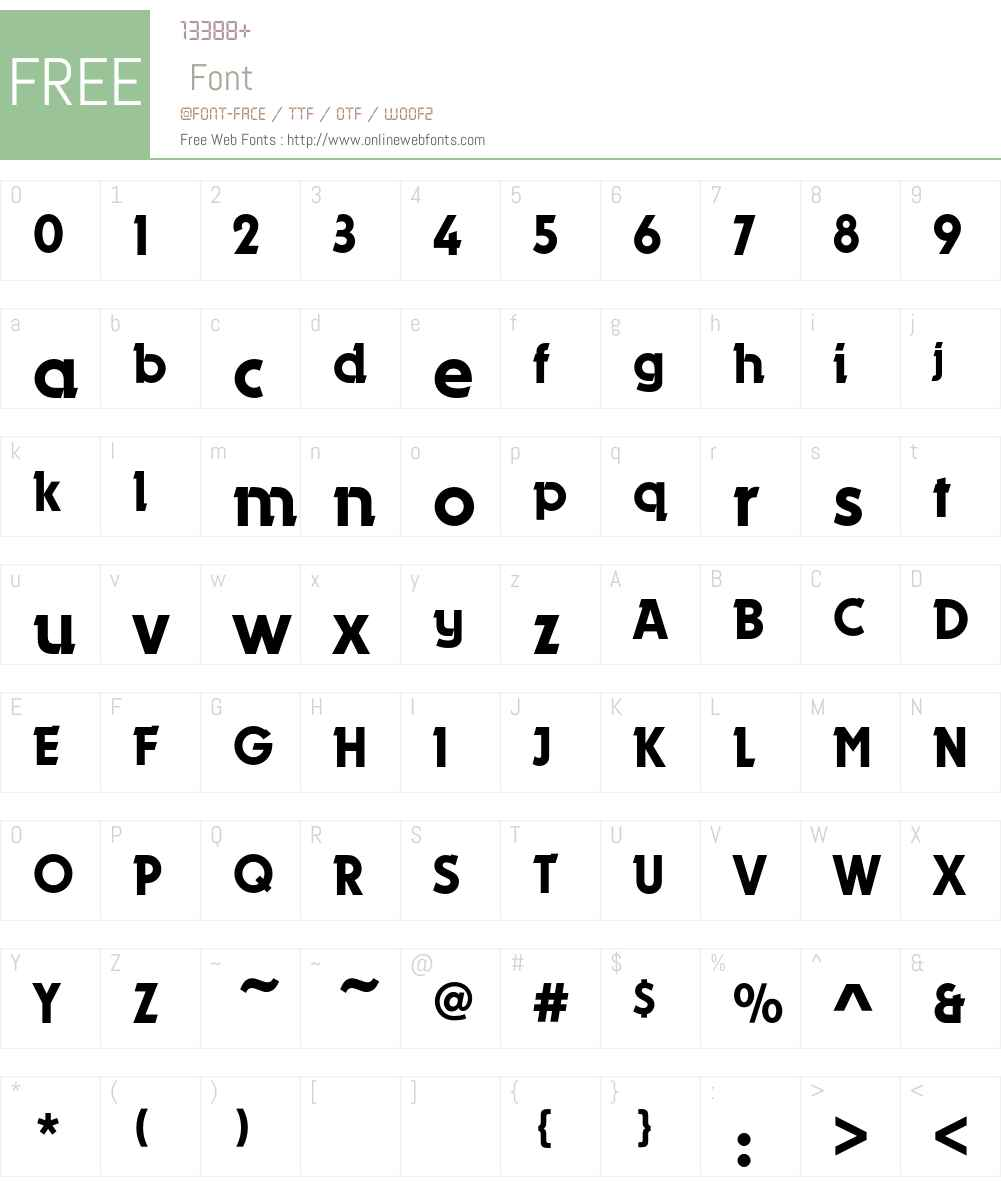 DynamoEF Font Screenshots