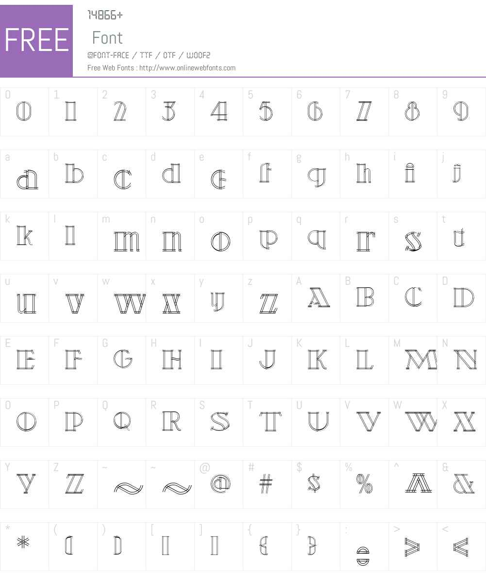 DetailsDetailsNFW01-Regular Font Screenshots