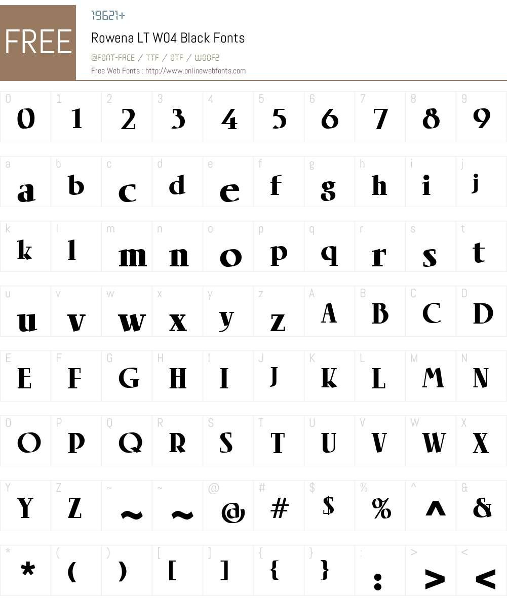 Linotype Rowena Font Screenshots