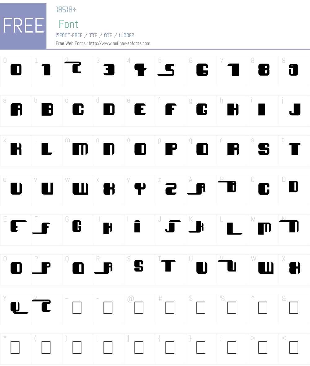 Essef Font Screenshots