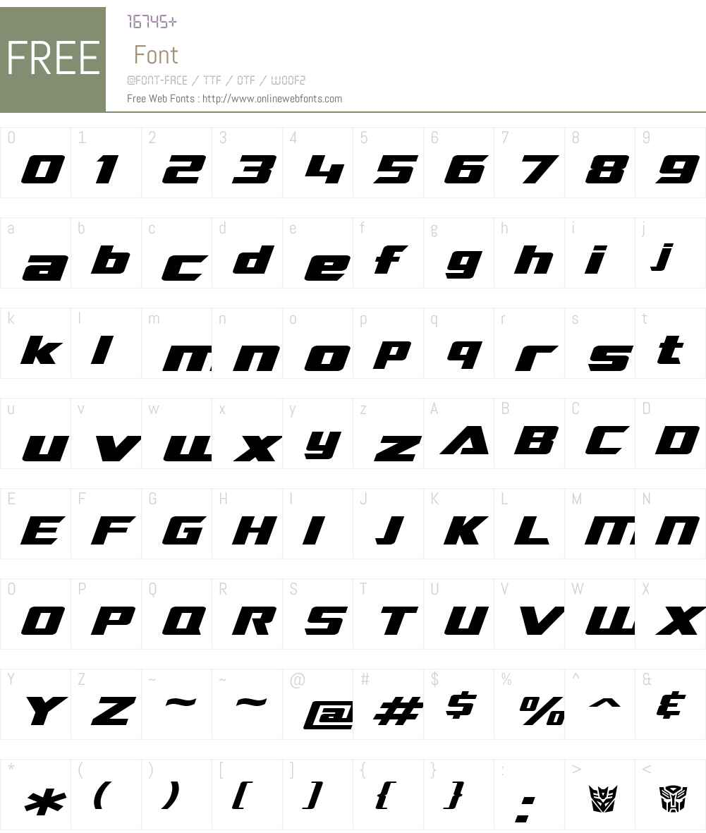 SF TransRobotics Extended Font Screenshots