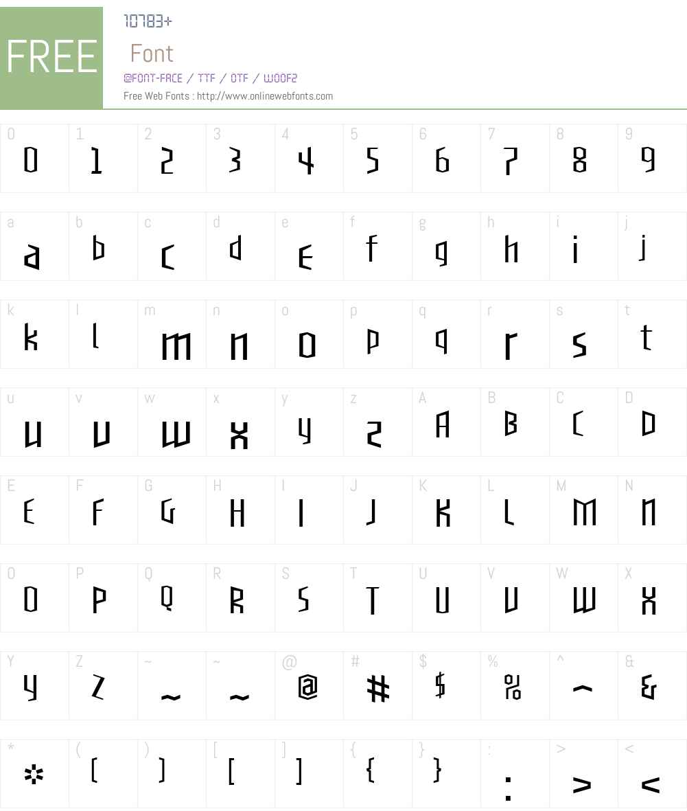 BlackletterSansW00-OneLt Font Screenshots