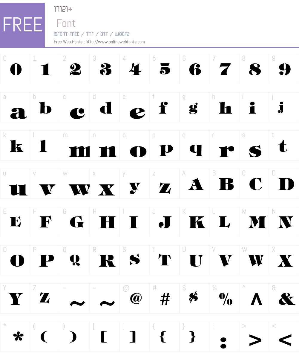 .VnTifani Heavy Font Screenshots
