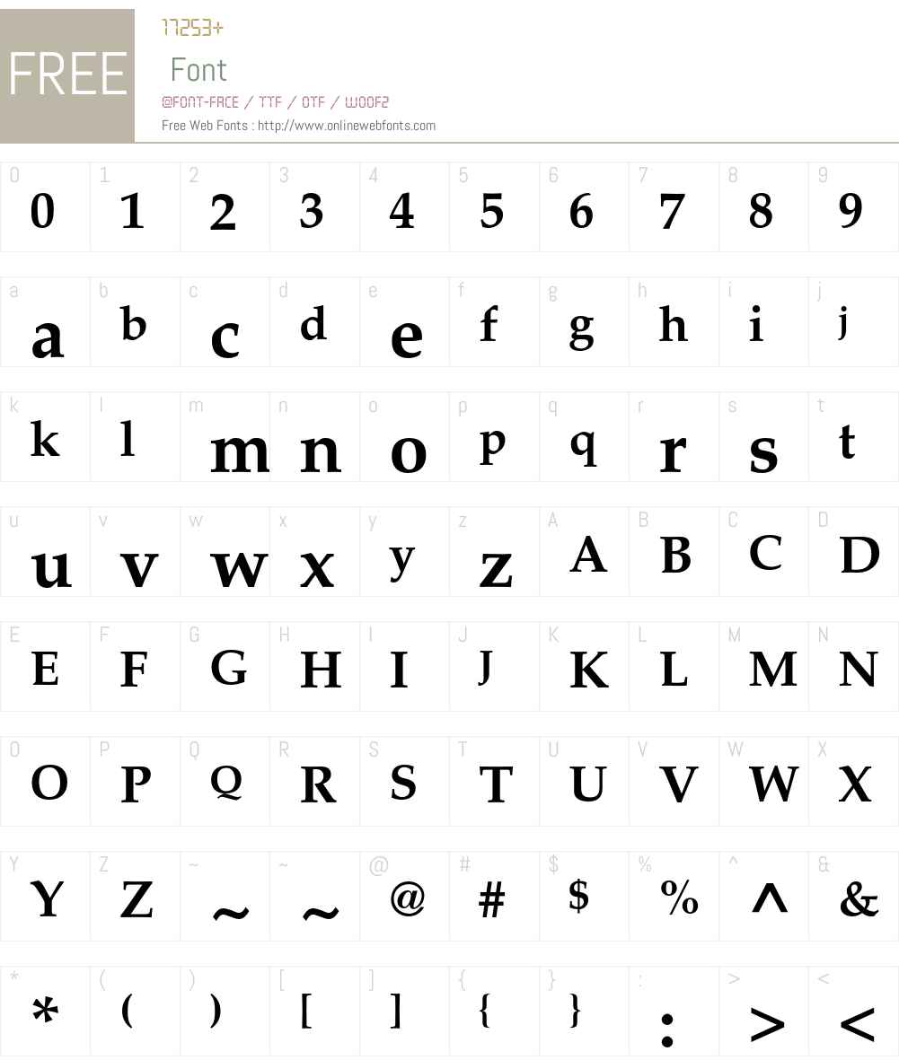 Palatino LT Std Font Screenshots