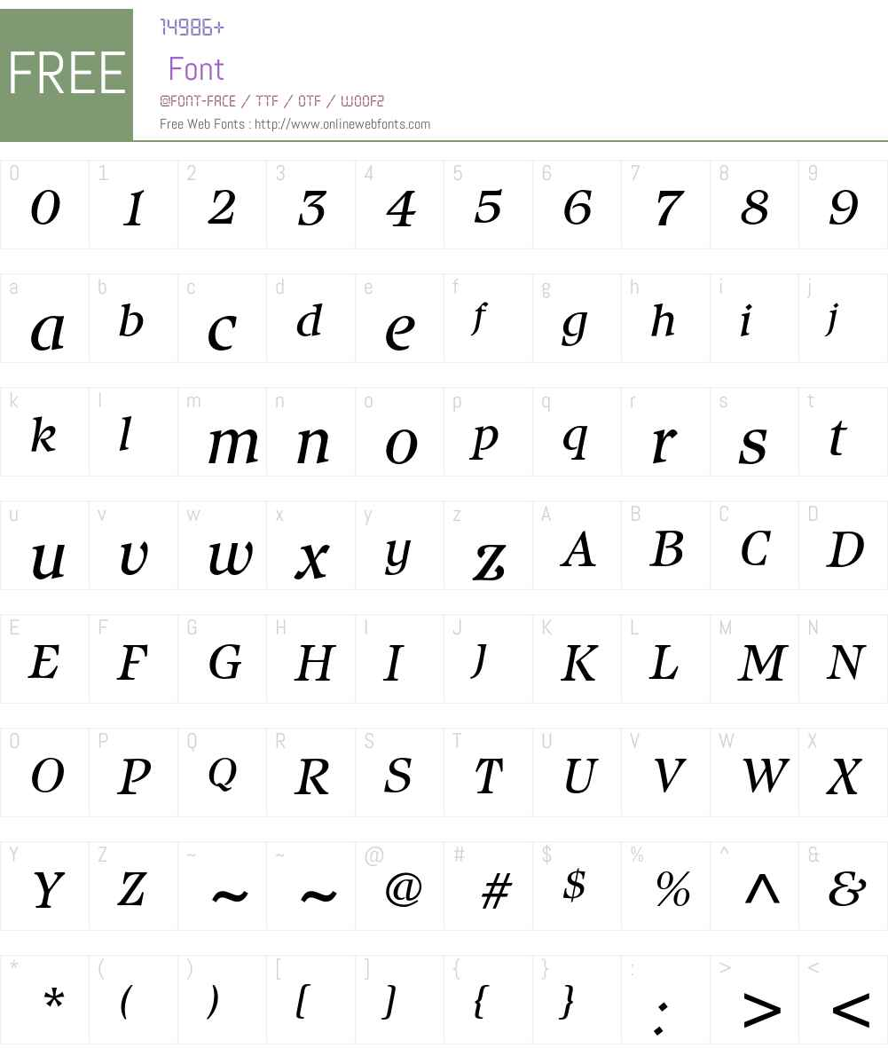 Isbell ITC Std Font Screenshots