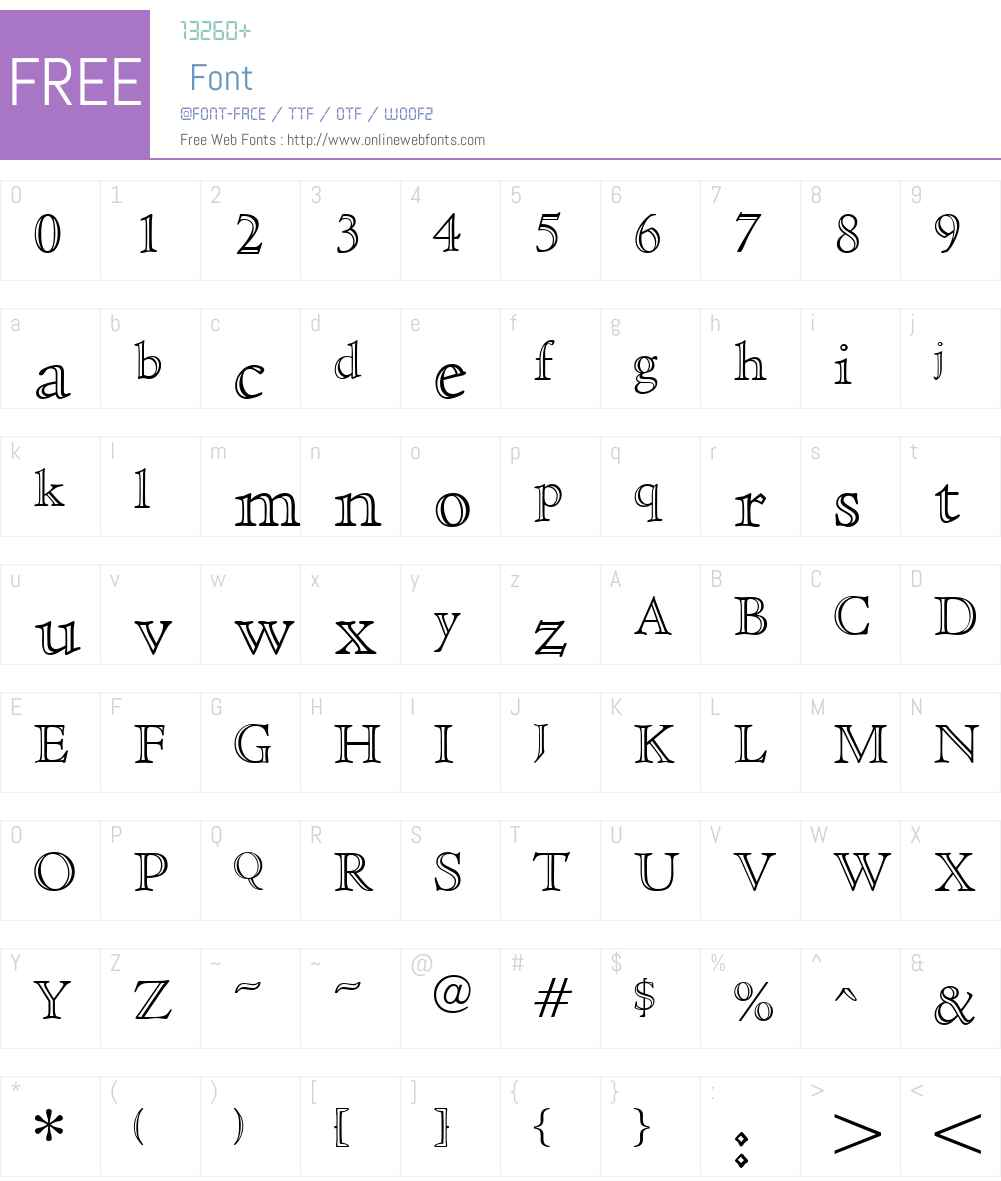 CedarOpenface Font Screenshots