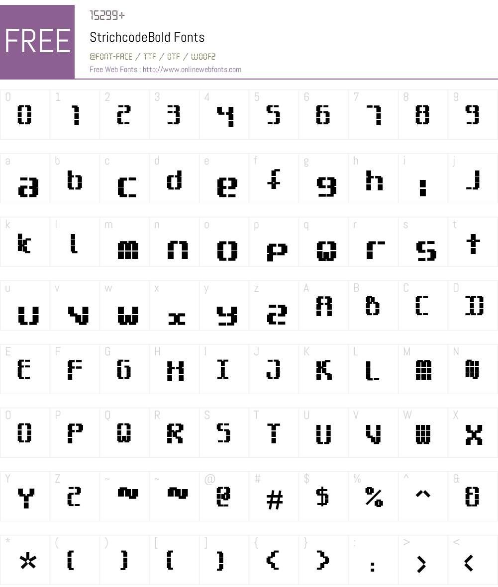 StrichcodeBold Font Screenshots