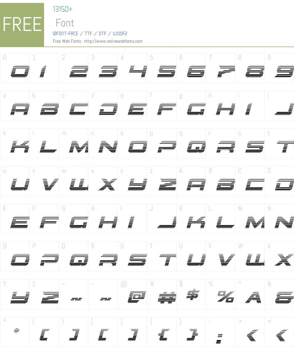 Gypsy Killer Gradient Italic Font Screenshots