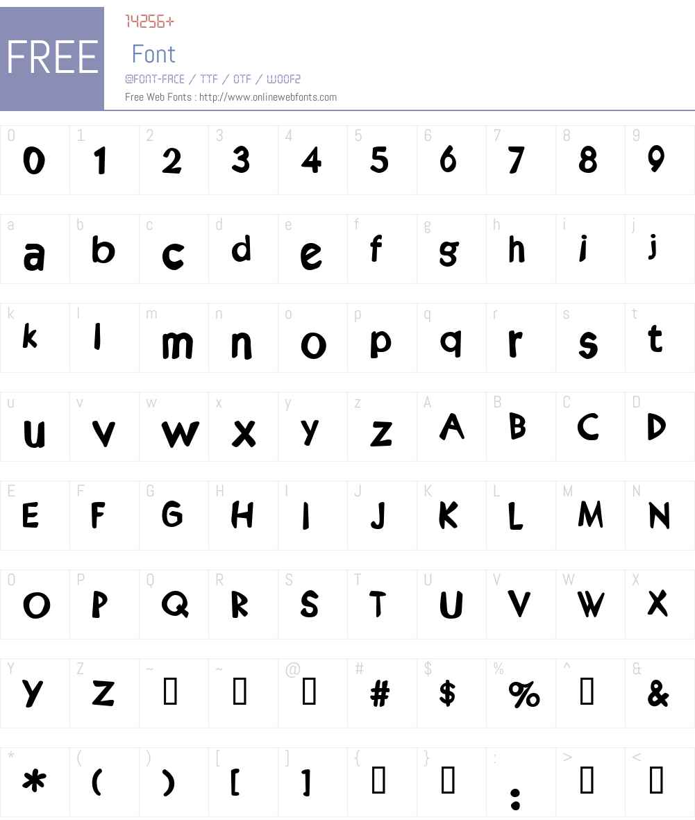 Kruede Font Screenshots