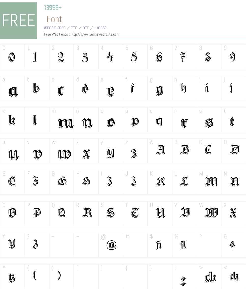 DS HermannGotisch Font Screenshots