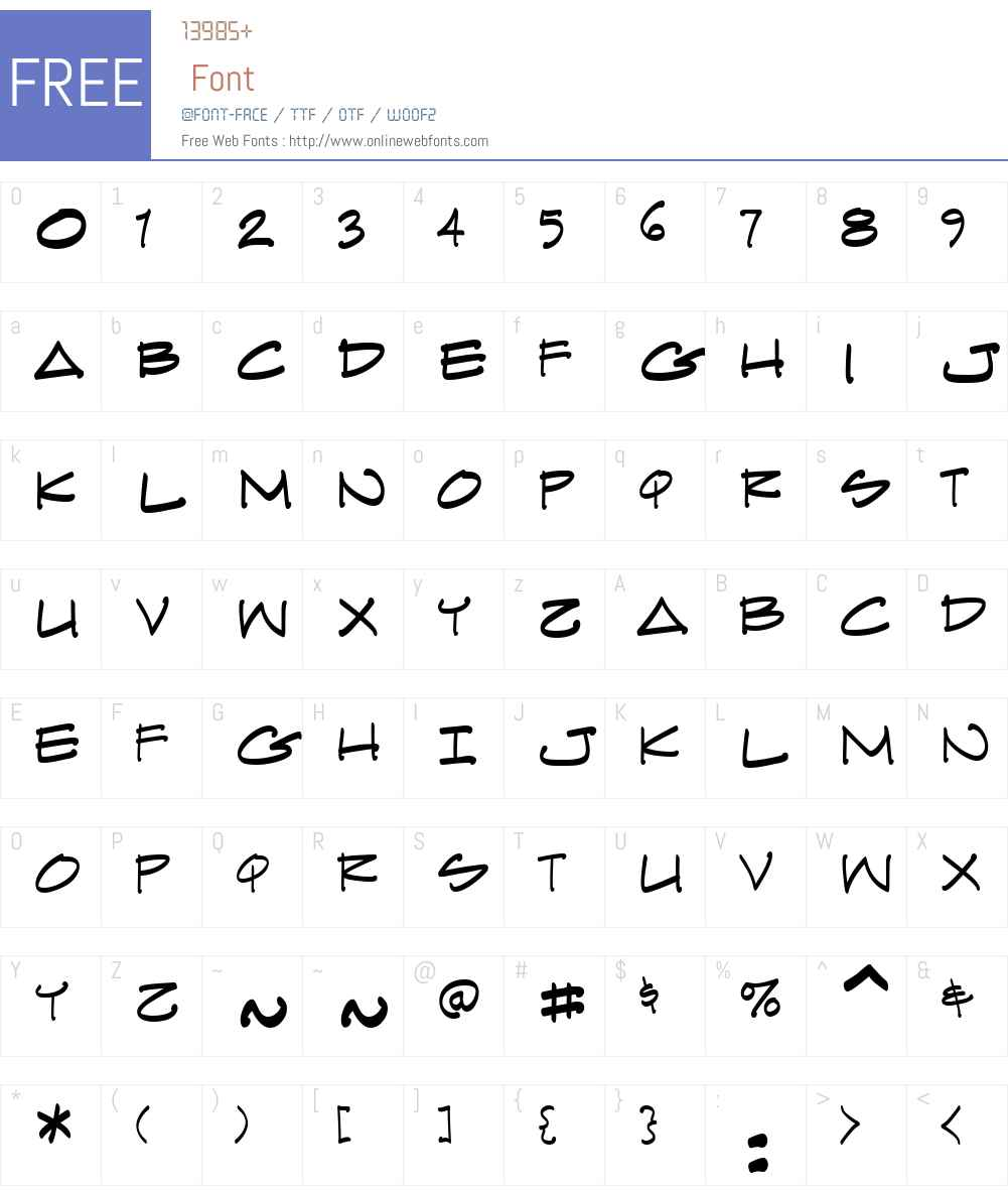 ArchiText BB Font Screenshots