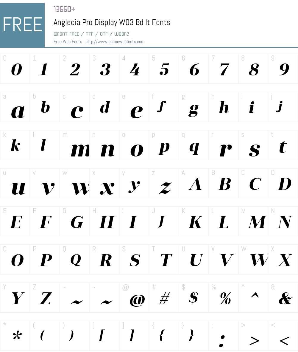 Anglecia Pro Font Screenshots