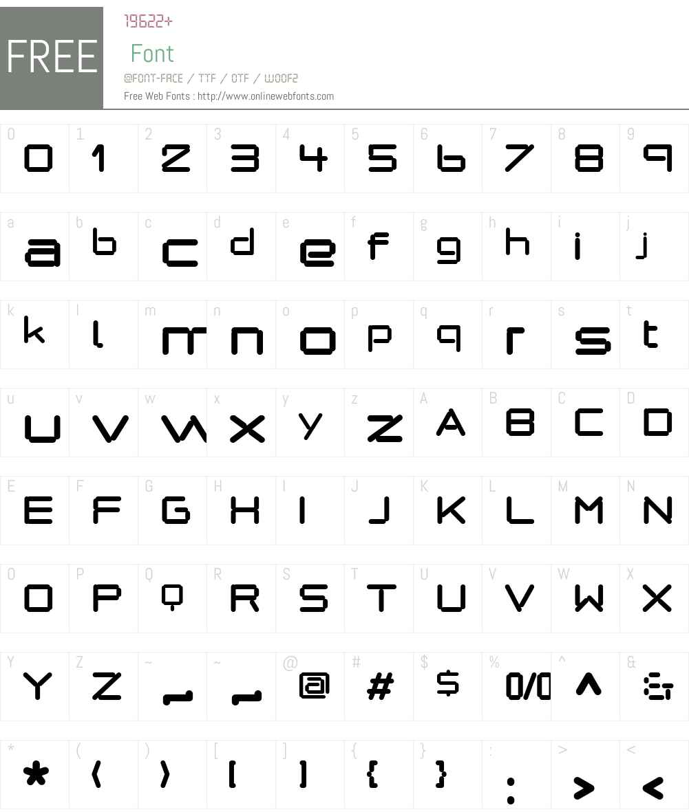 AlphaJulietW90-Regular Font Screenshots