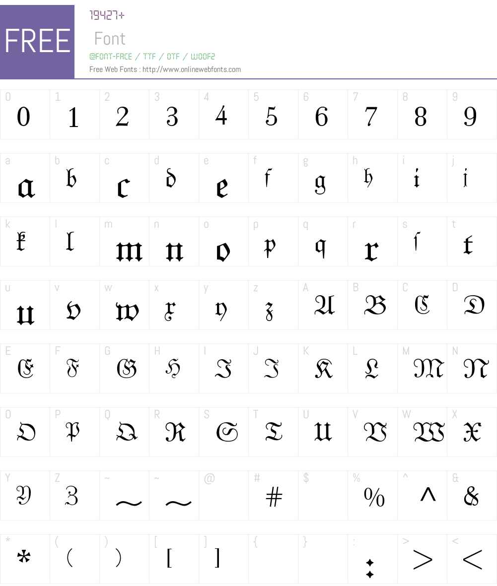 Unger Fraktur BQ Font Screenshots