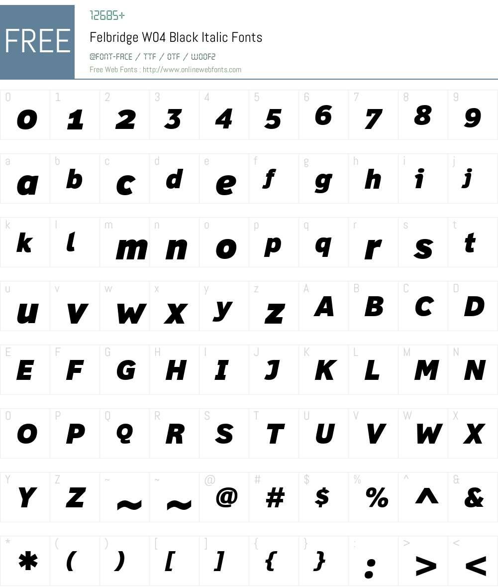 Felbridge Font Screenshots