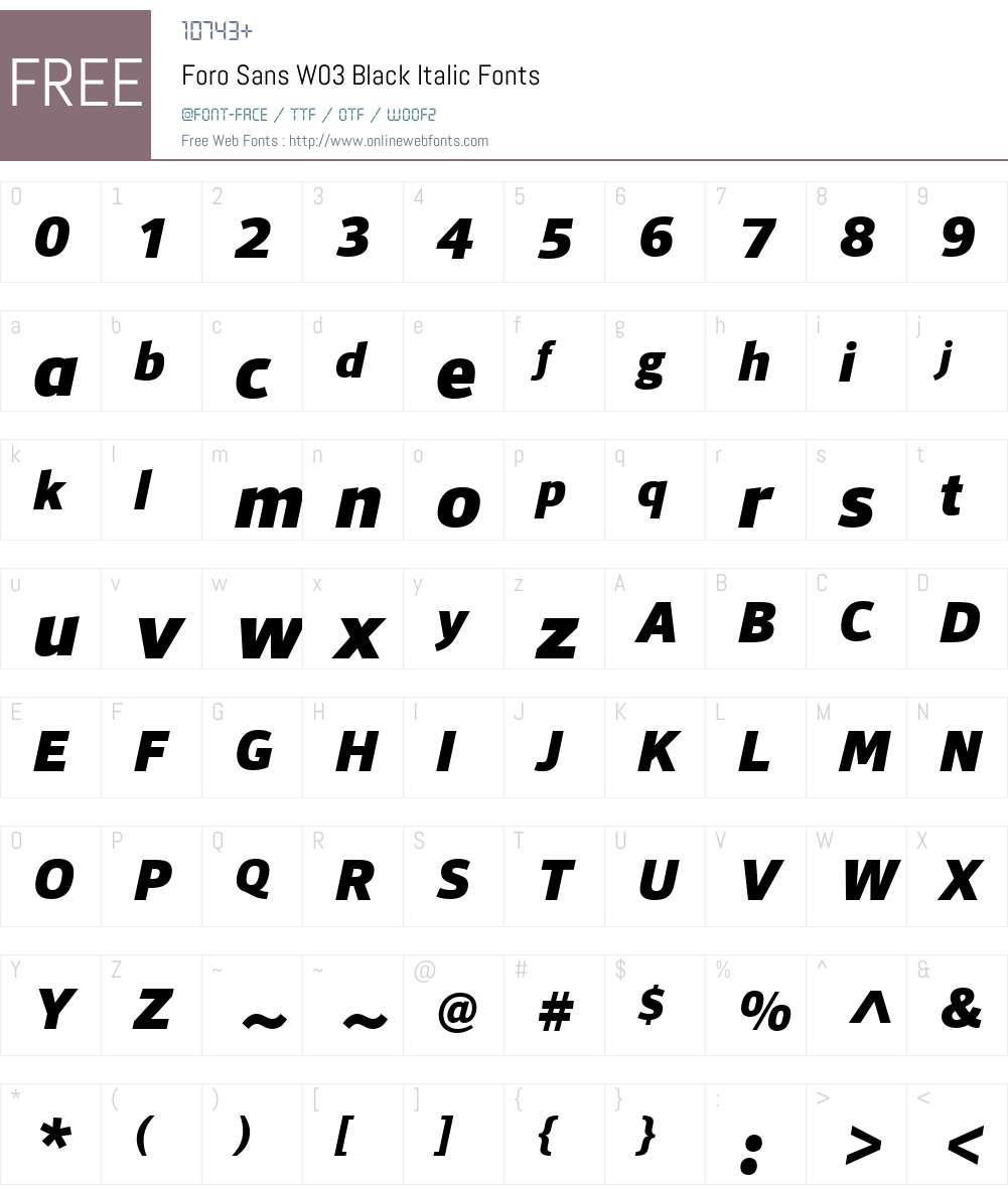 Foro Sans Font Screenshots