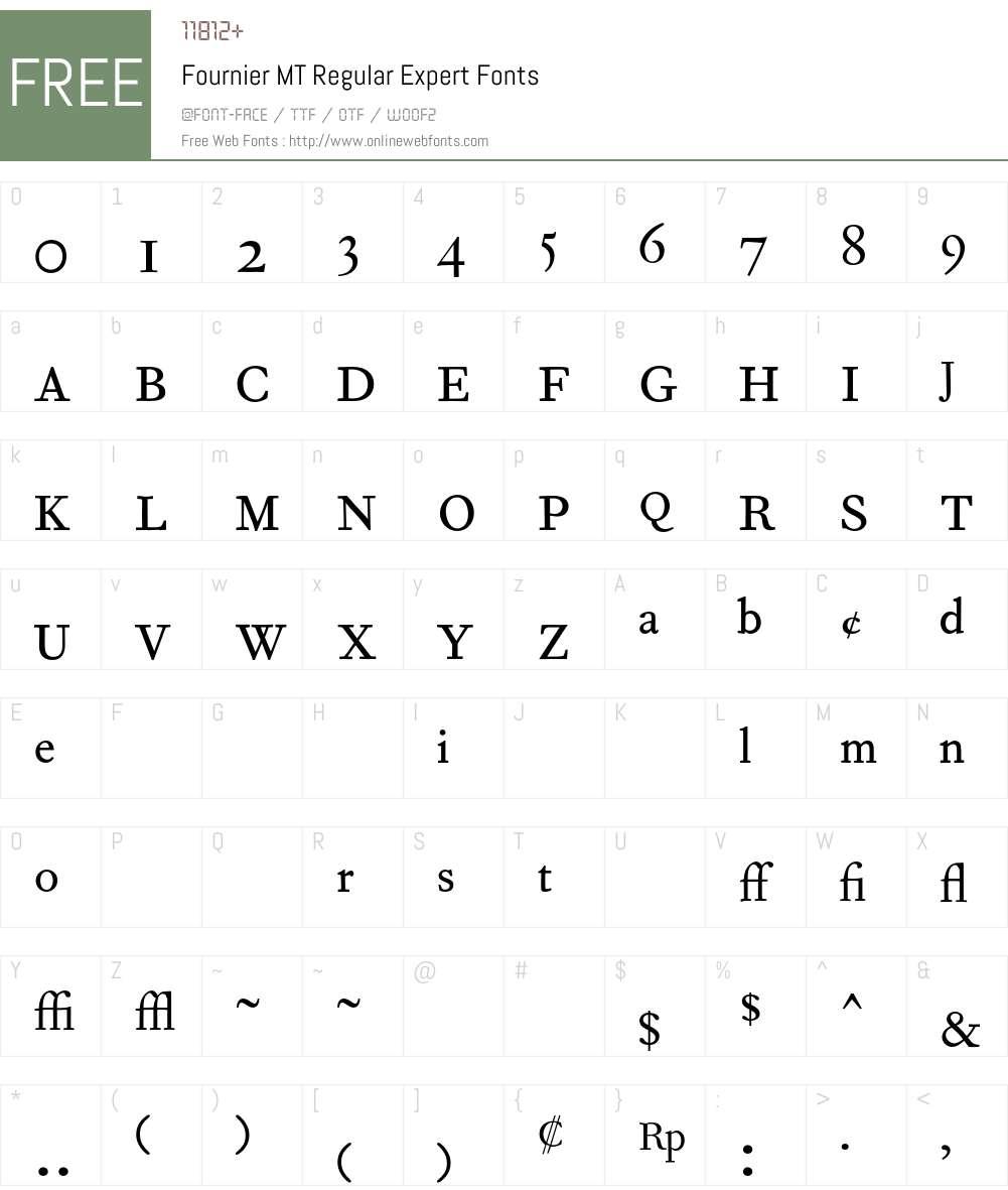 Fournier MT Font Screenshots
