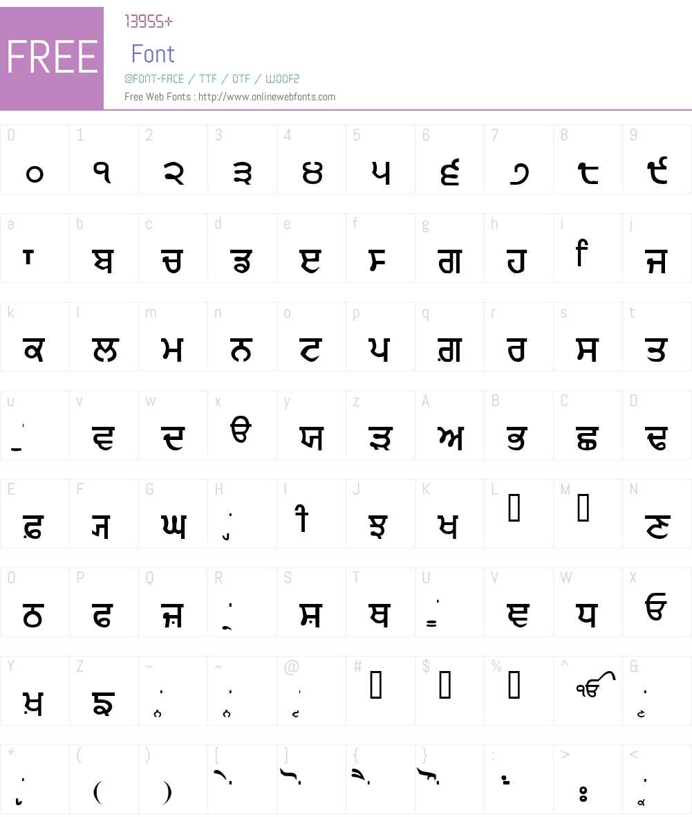 GurmukhiIIGS Font Screenshots