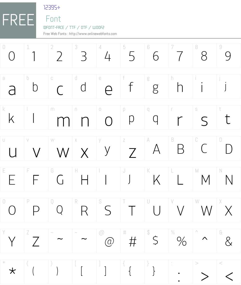 XXIICentarThin Font Screenshots