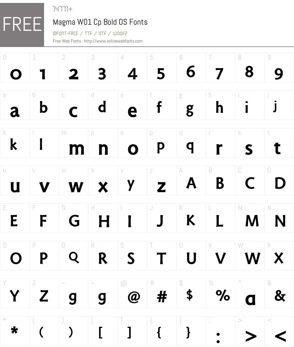 MagmaW01-CpBoldOS Font Screenshots