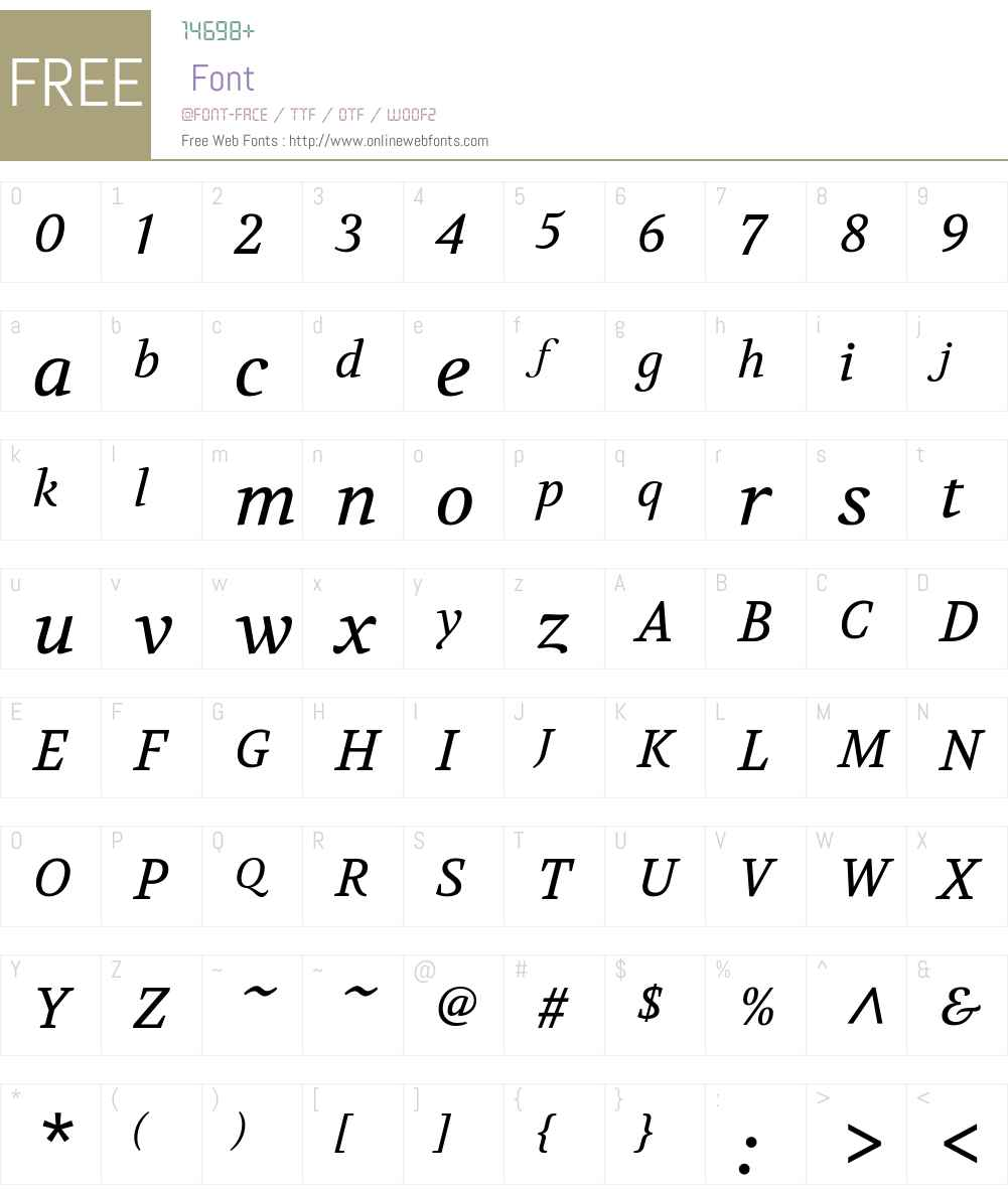 Volkhov Font Screenshots
