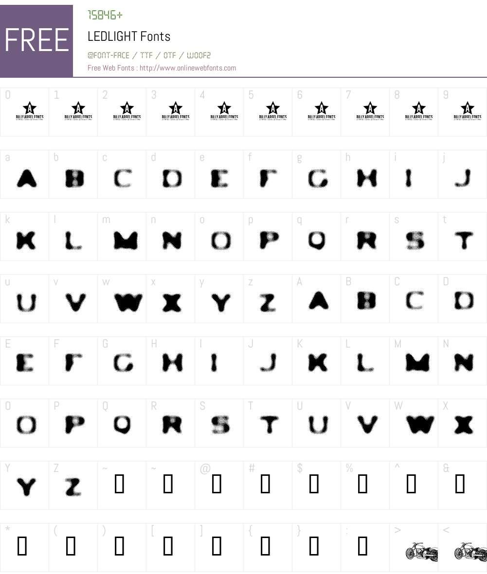 LEDLIGHT Font Screenshots