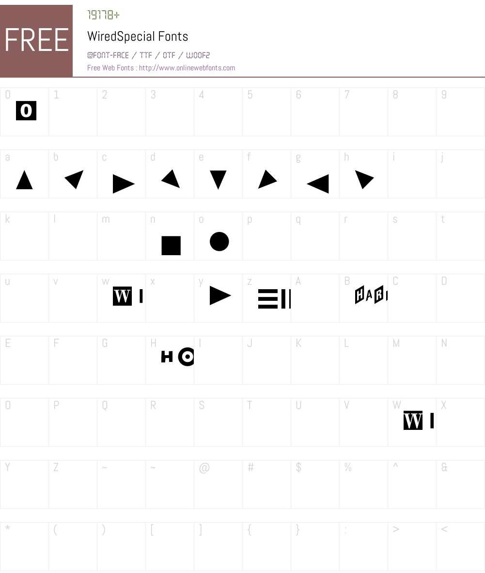 WiredSpecial Font Screenshots
