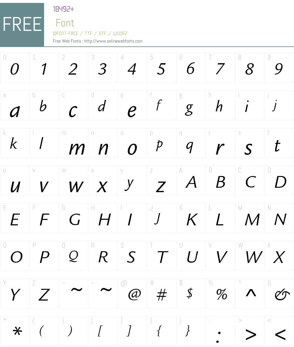 LegacySansEF Font Screenshots
