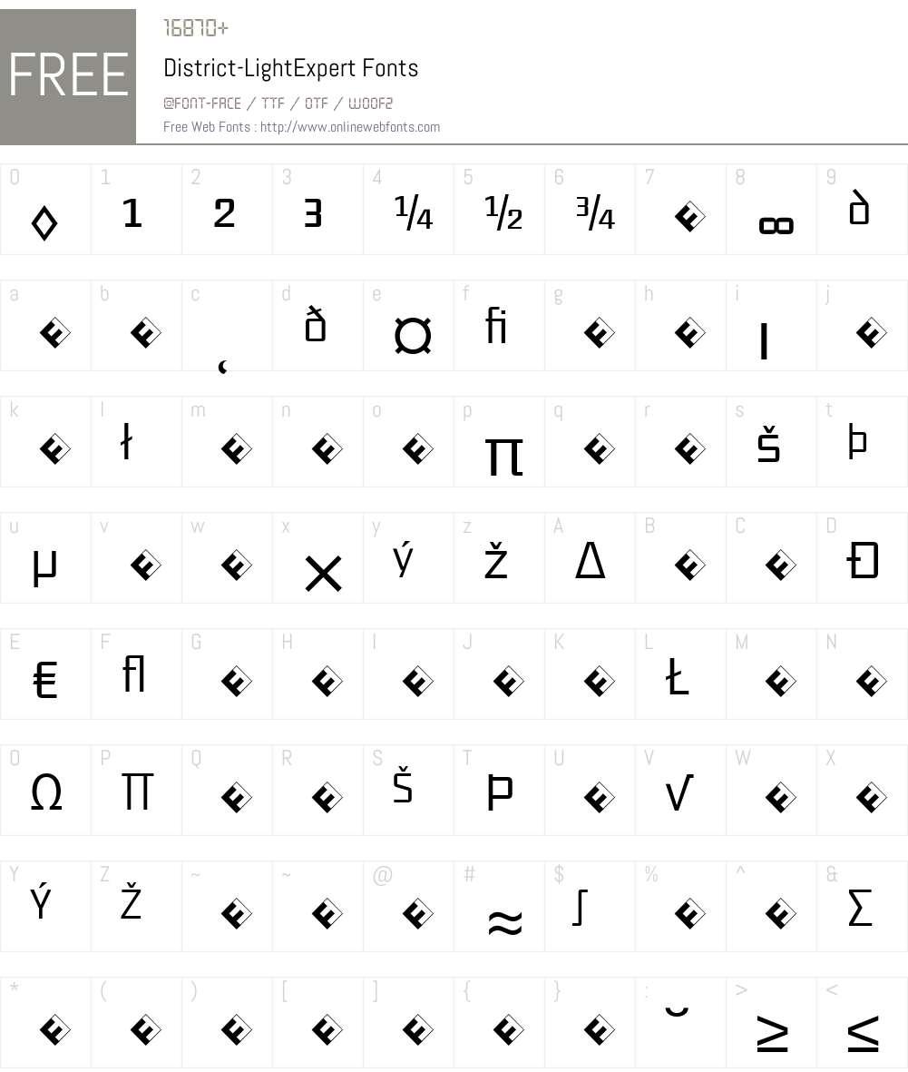 District-LightExpert Font Screenshots
