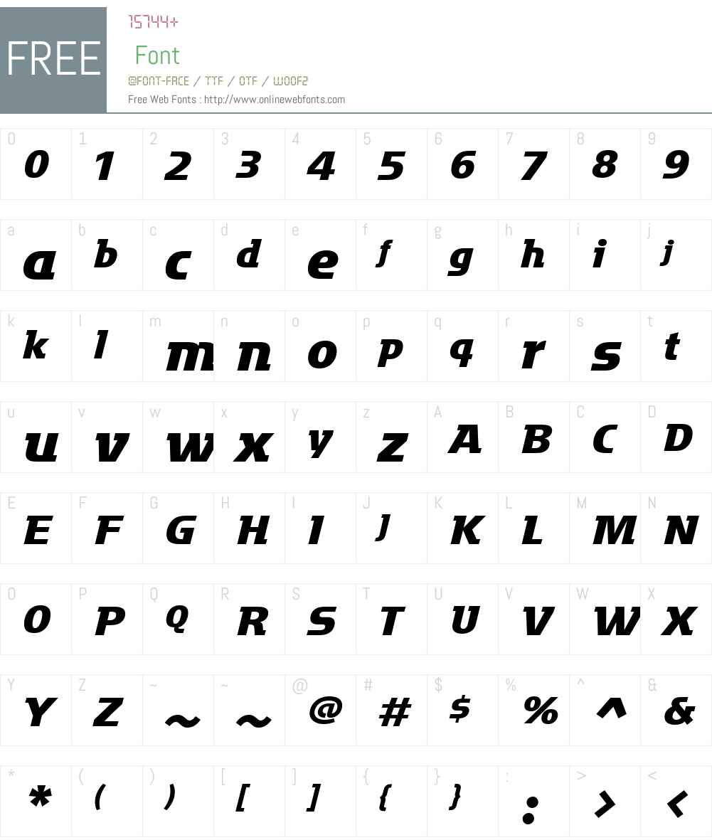 MotterFactumW01-BoldItalic Font Screenshots