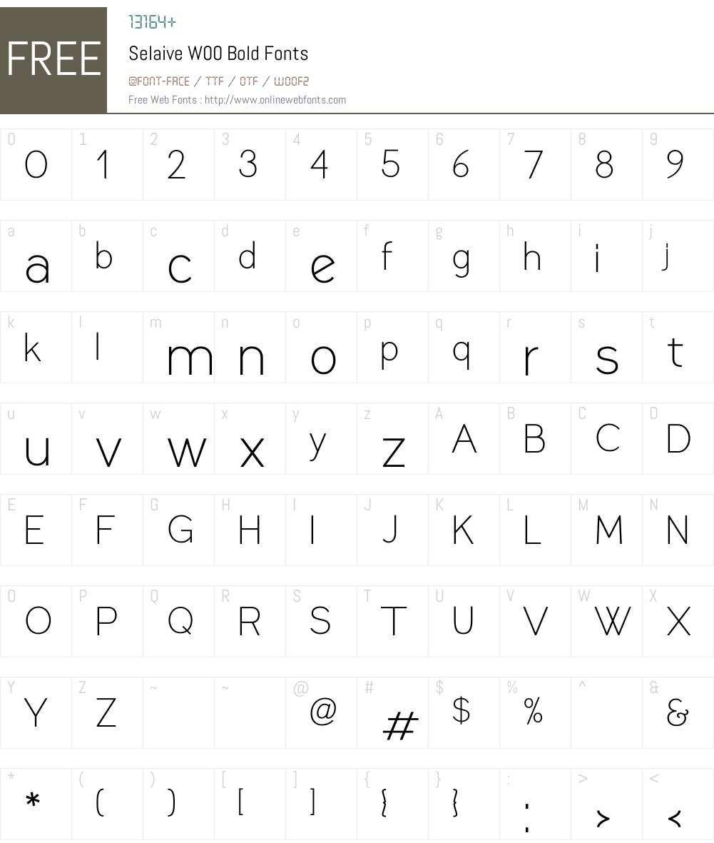 SelaiveW00-Bold Font Screenshots