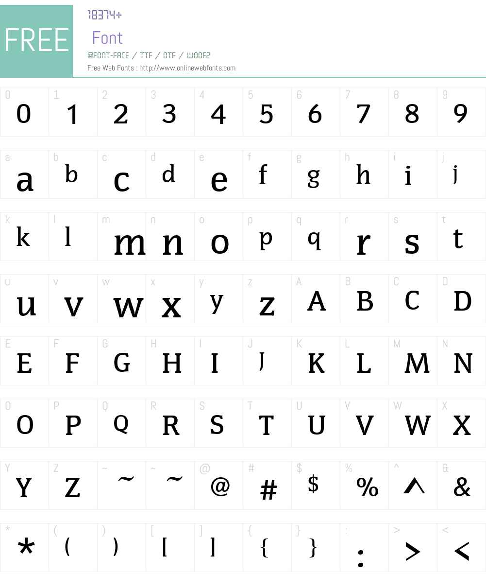 CongressW01-Medium Font Screenshots