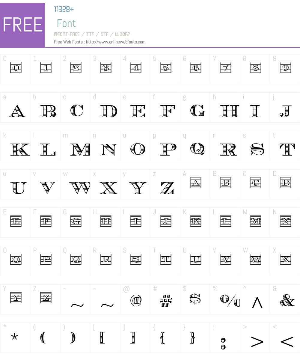 ChevalierW01-Initials Font Screenshots