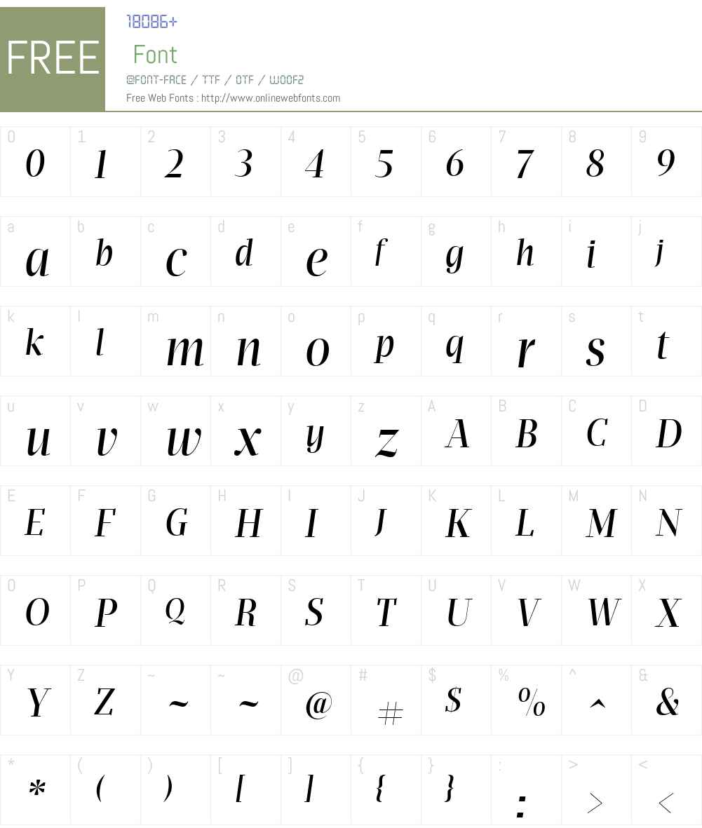 Apud Display Font Screenshots