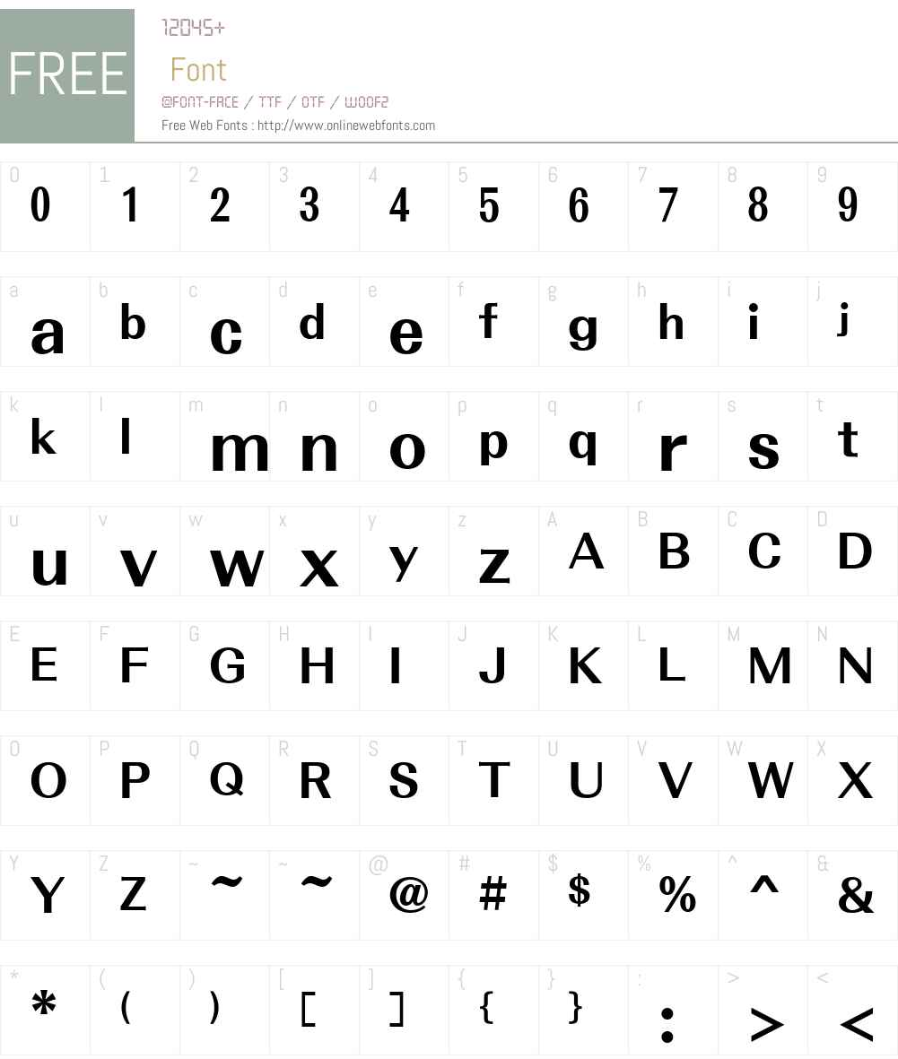 Motoya Aporo Font Screenshots