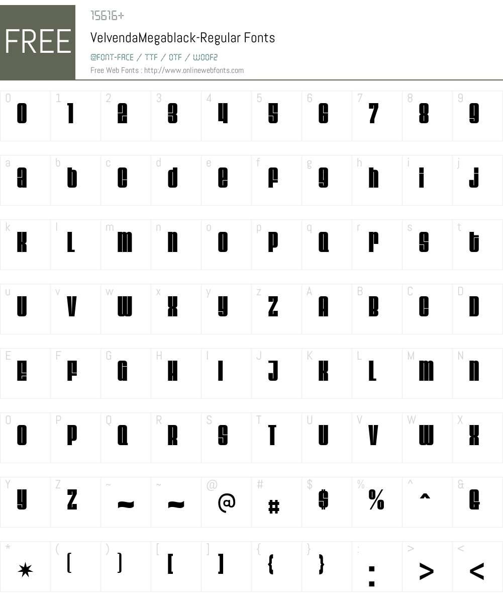 Velvenda Font Screenshots