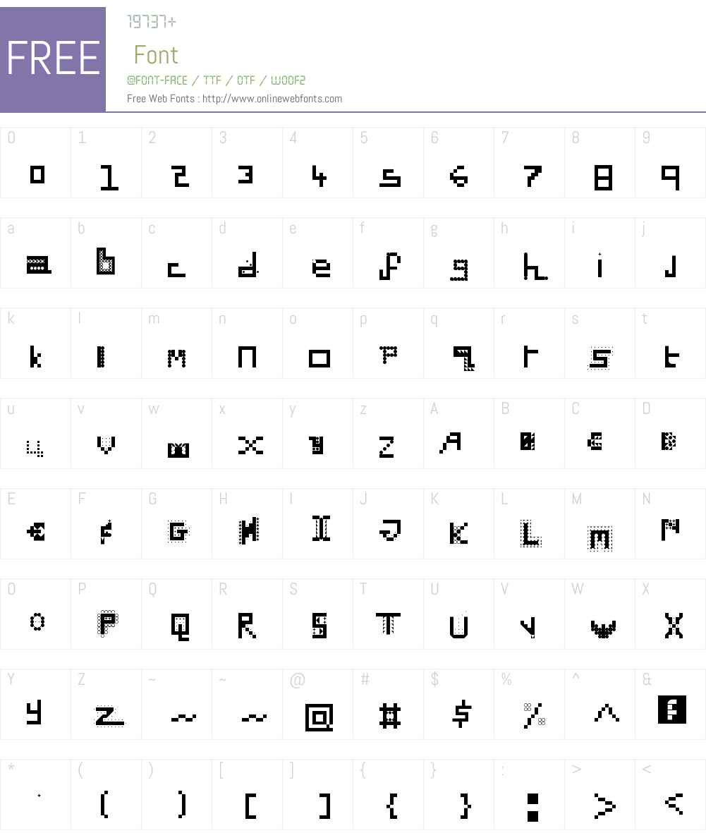 Dead Crunc Font Screenshots