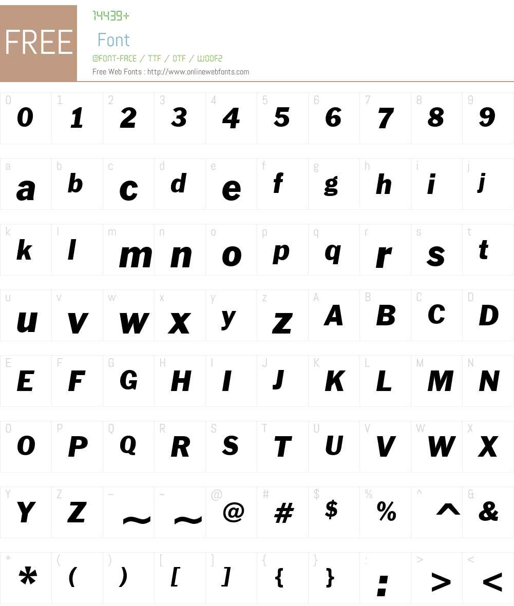FranklinGothicW01-Italic Font Screenshots