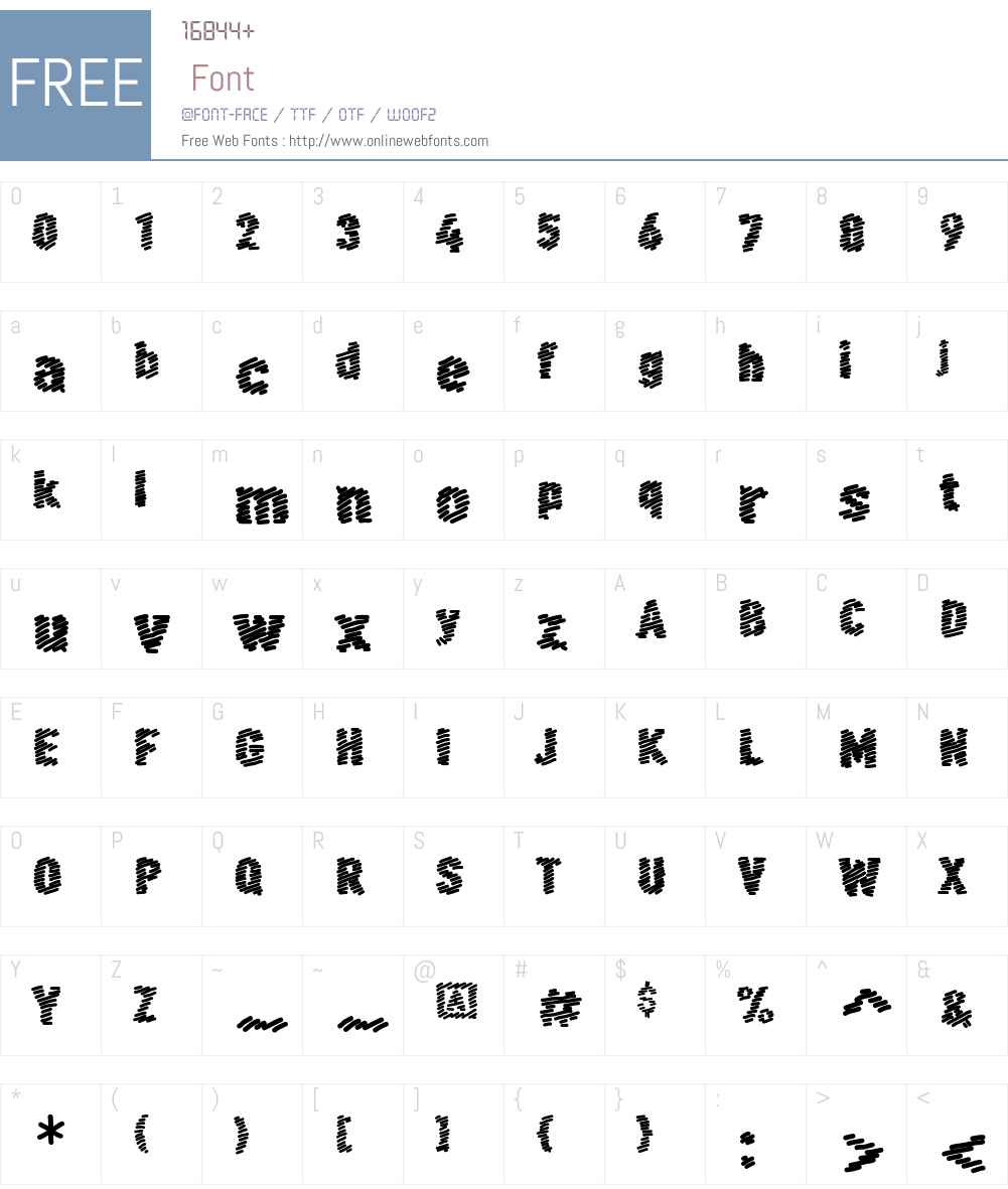 FF Scribble Font Screenshots