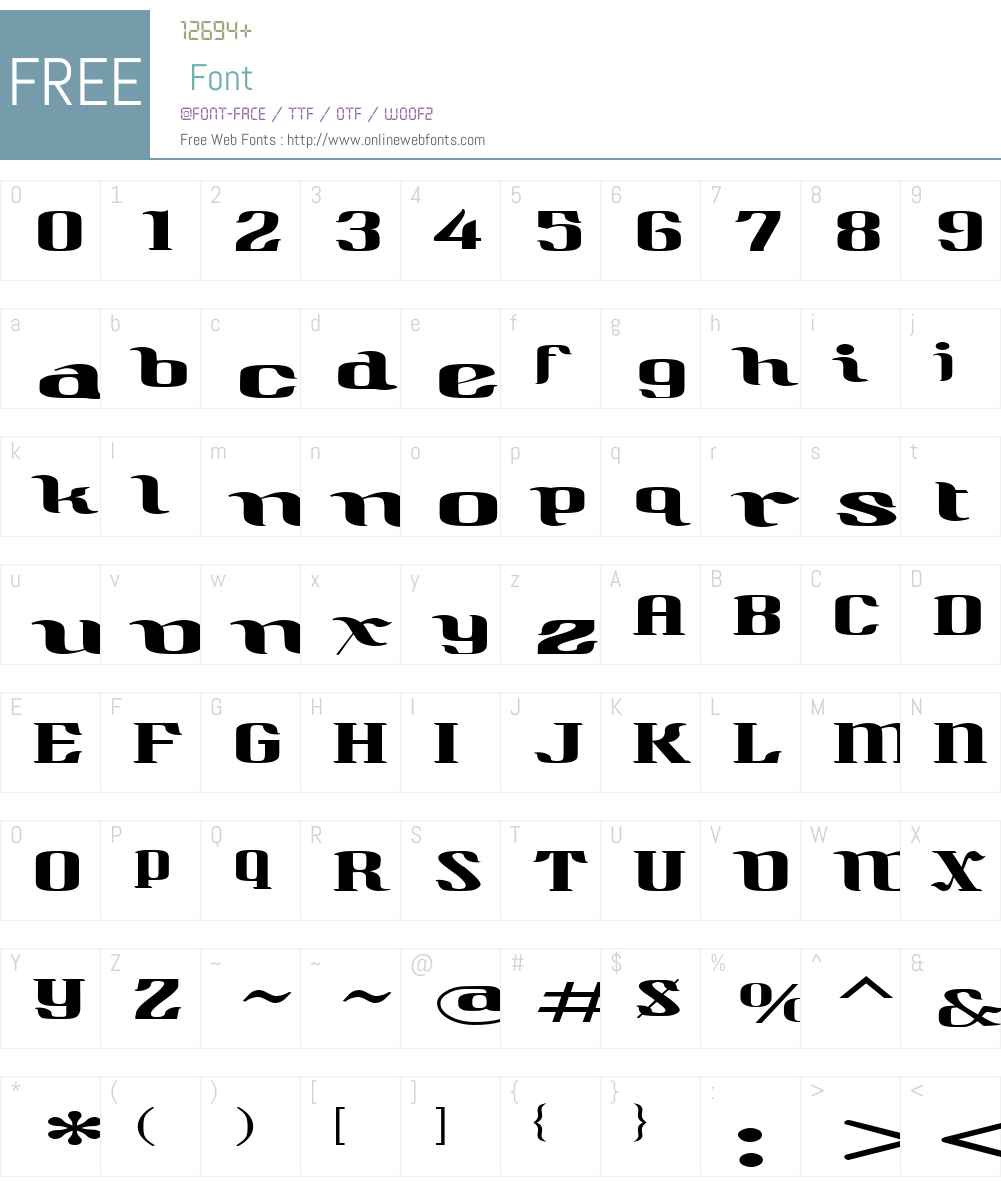 QuidicHatched Font Screenshots