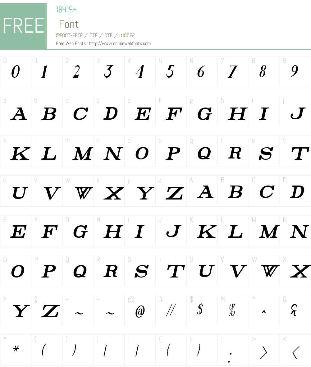 Rider Tall Font Screenshots