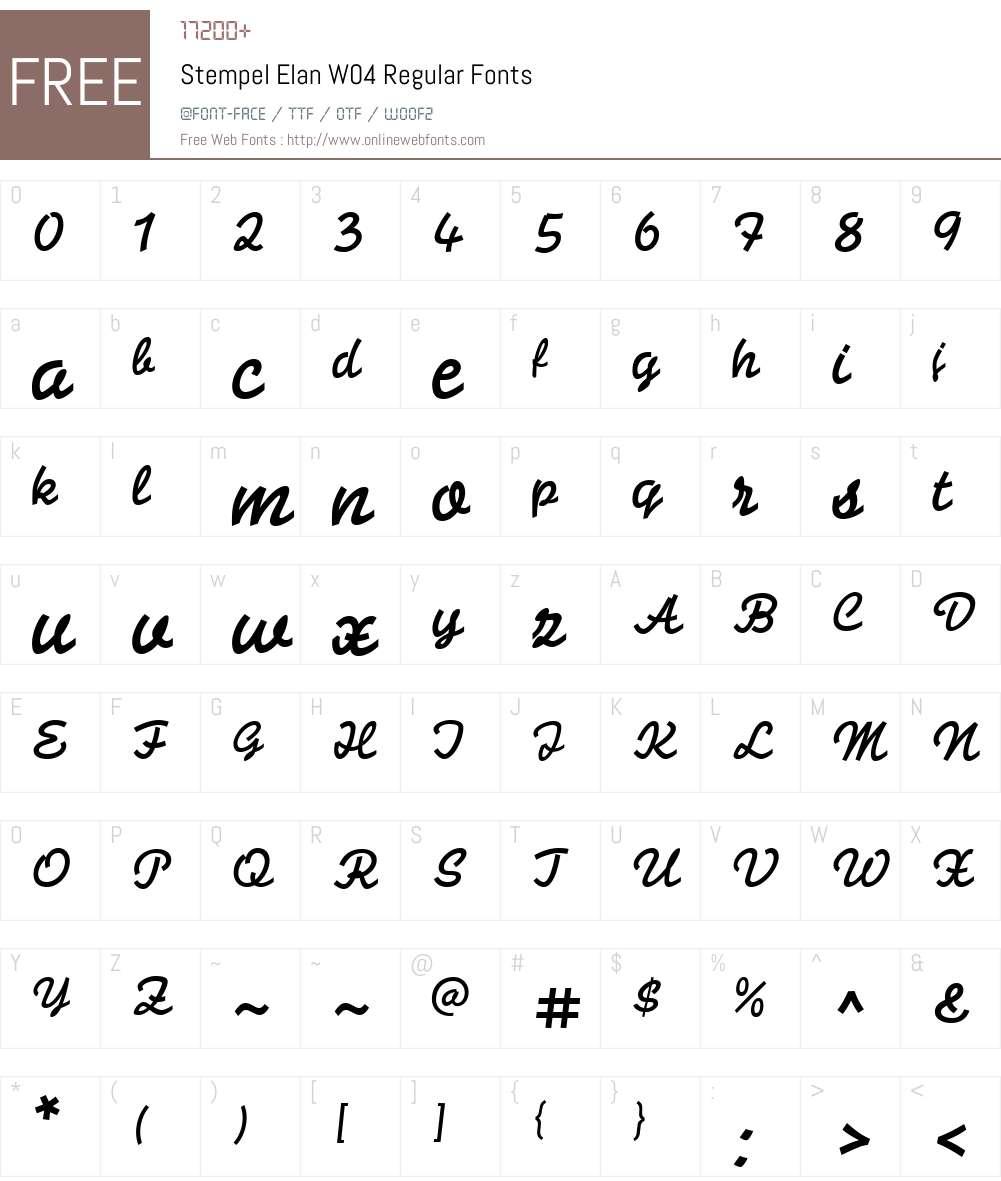 Stempel Elan Font Screenshots