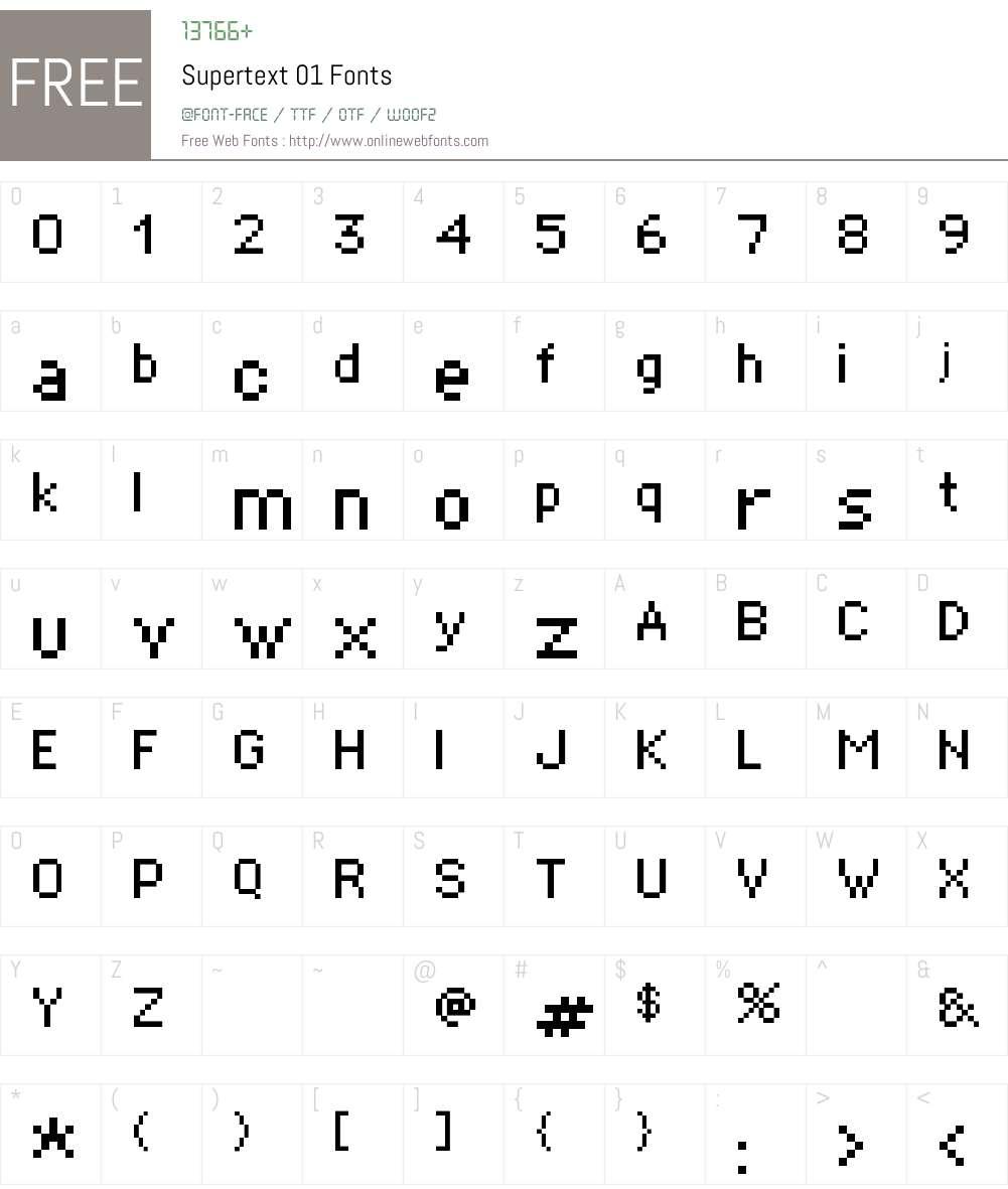 Supertext 01 Font Screenshots