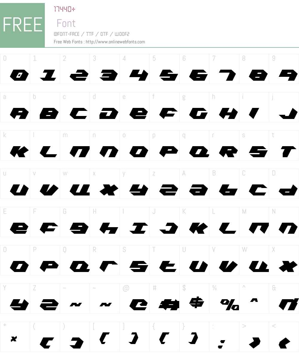 Kubrick Extra-Condensed Font Screenshots
